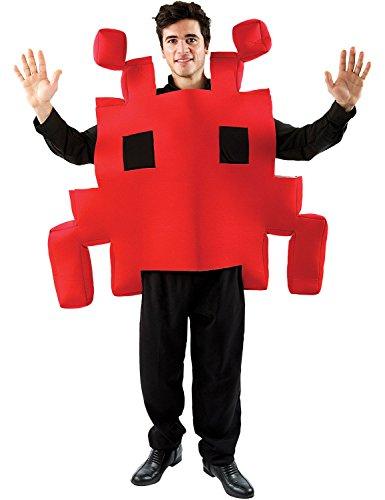 ORION COSTUMES Costume de déguisement rouge d'un personnage de jeu d'arcade de l'espace
