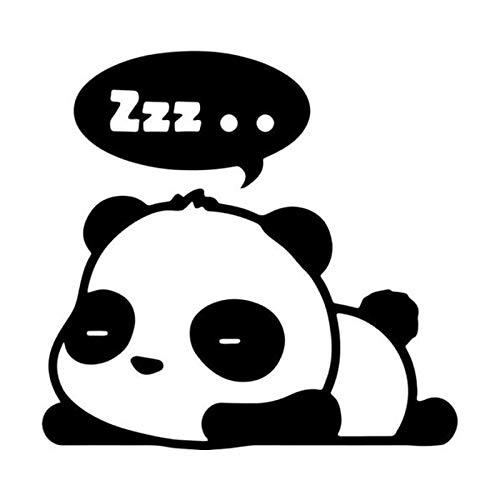greestick Aufkleber Panda 15x14cm by Sticker schwarz