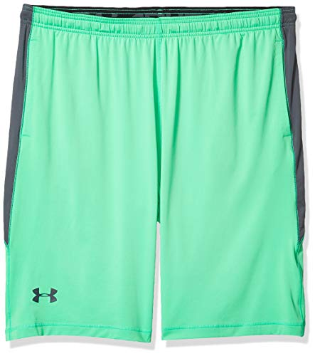 Under Armour Men's Raid 10-inch Workout Gym Shorts , Vapor Green (302)/Pitch Gray , 4XL