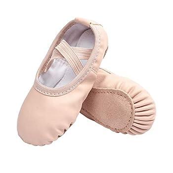 Stelle Girls Ballet Dance Shoes Slippers for Kids Toddler  Ballet Pink Beige  9MT
