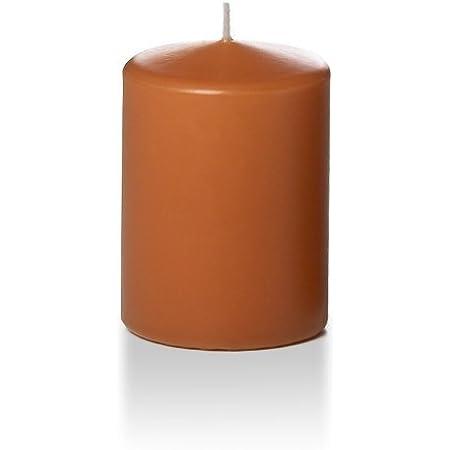 3 per Pack Yummi 3 x 10 Sandstone Round Pillar Candles