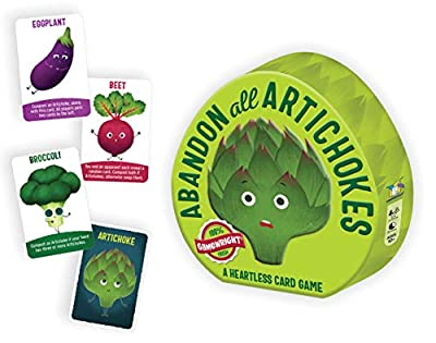 Gamewright Abandon All Artichokes Tin - A Heartless Card Game by Gamewright