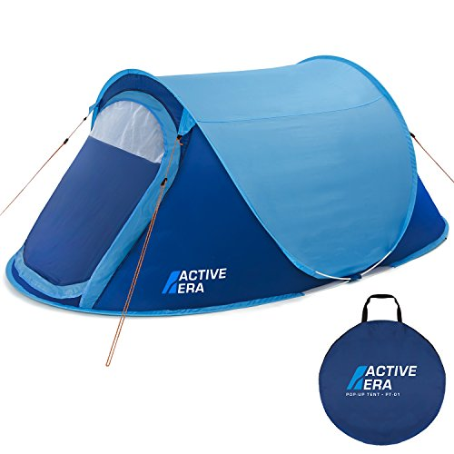 Active Era Large 2 Person Pop Up Tent - Water-Resistant, Ventilated and Durable