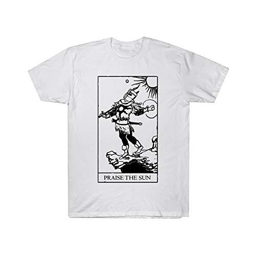Dark Souls Camiseta Camiseta versátil destacada de la Moda Camiseta Transpirable y cómoda (Color : A07, Size : S)