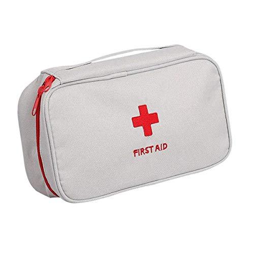 Trousse de premiers secours vide sac de voyage d'urgence sac de survie sac de rangement médical sac de médicaments sac portable sac à domicile bureau sac médical vide (gris)