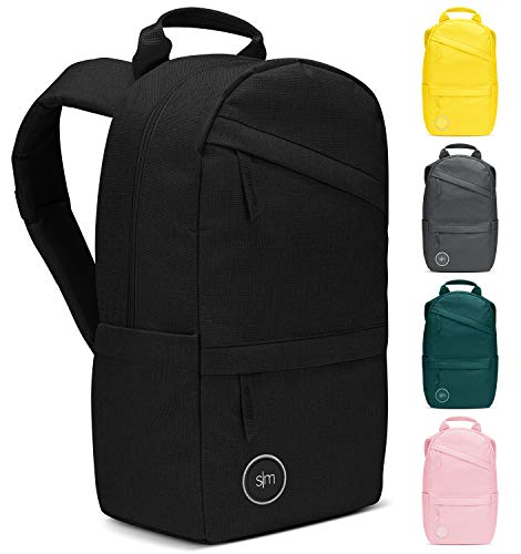 Simple Modern Legacy Backpack with Laptop Compartment Sleeve - 10L Travel Bag for Men & Women College Work School -Midnight Black
