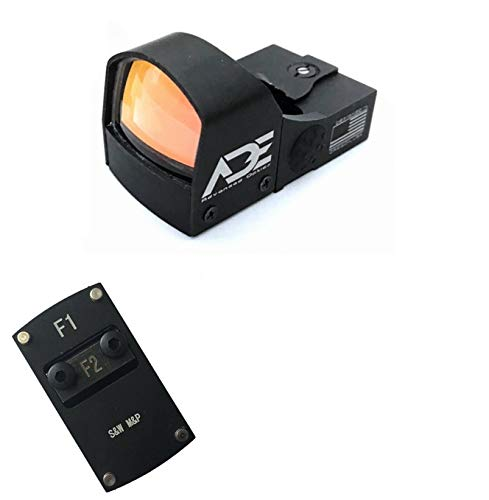 Ade Advanced Optics Compact RD3-009 Red Dot Reflex Sight + Optic Mounting Plate for SW Smith Wesson MP/MP 2.0 Shield Pistol and Also a Standard Picatinny Mount