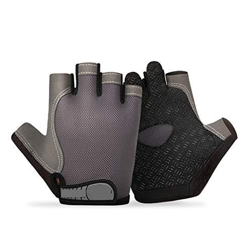 Guantes impermeables térmicas 1 par de medio dedo ciclismo guantes de bicicleta...