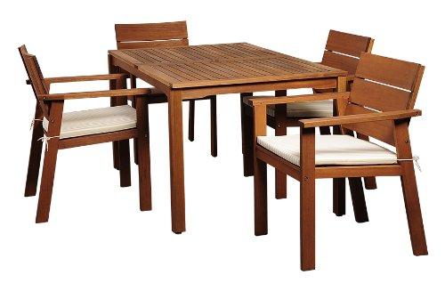 Hot Sale Amazonia 5-Piece Nelson Eucalyptus Rectangular Dining Set