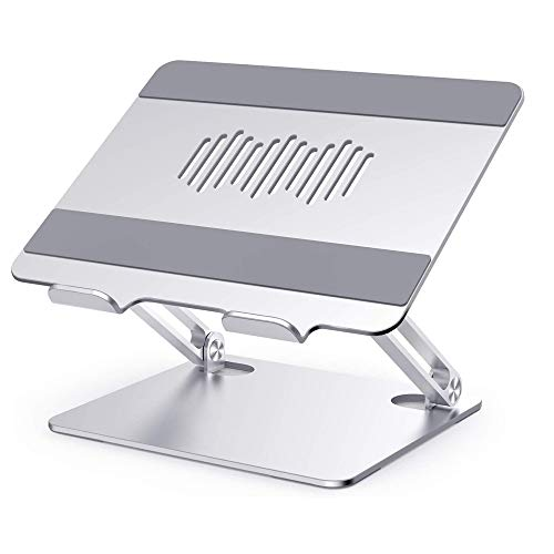 Xyyy Adjustable Laptop Stand, Aluminum Removable Ergonomic Height Angle Computer Laptop Holder, for Laptop (10-17 inches)