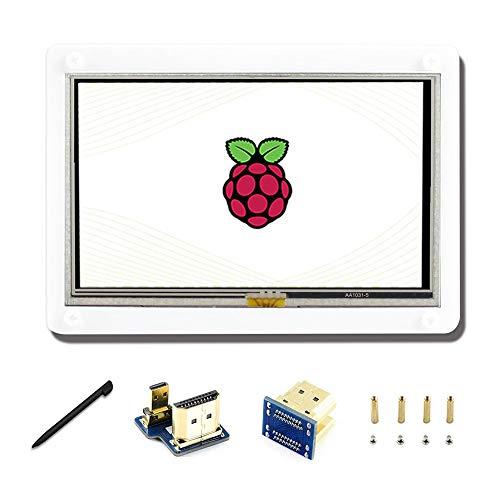 Display LCD da 5 pollici A con Cover Case display touchscreen resistivo 800 * 480, HDMI interfaccia per Raspberry Pi 4/3/2 modello B/A
