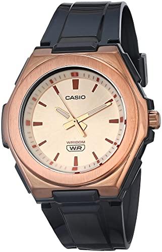 Casio Women's Stainless Steel Quartz Resin Strap, Black, 22 Casual Watch (Model: LWA-300HRG-5EVCF)