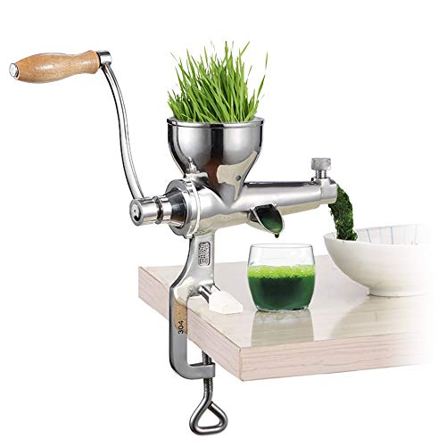 Wheat Grass Juicer, Manual Juicer Manual Food Processor Stainless Steel Fruit Juice Machine Ginger Juicer