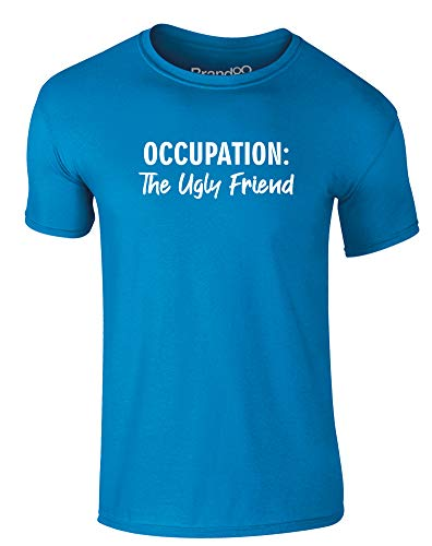 Brand88 Occupation: The Ugly Friend, Adults T-Shirt - Azure/White L