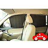 Emoson's Magnetic Car Side Window Sunshade, Slidable Rear Side Windshield Sun Shade 4 Pack