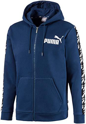 PUMA Men's Hooded Jacket, Dark Denim, M