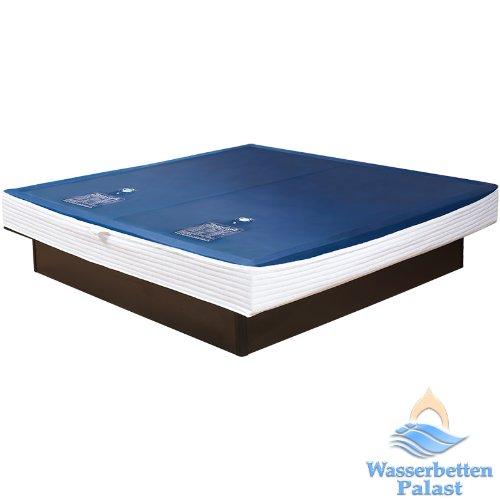 2xPremium Comfort Wasserkern inkl. Liner/Schutzfolie - Erneuerungsset für Wasserbett/Wasserbettmatratze Größe 180x200 cm Dual - Softside-Umrandung: innen keilförmig 20-23 cm - Beruhigung 90{40f3920e57320d2d913409939108bc148c59f3ceca9e0c7c06afbb43e554cfa9} / F6