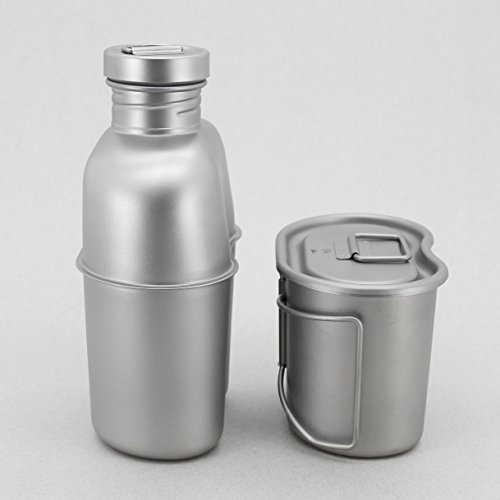 Product Image 1: Keith Titanium Ti3060 Canteen Mess Kit – New Ultralight Carrying Pouch