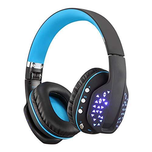 casque gamer Écouteurs pliants montés sur la tête Microphone lumineux Téléphone portable Jeu d'ordinateur Écouteurs Bluetooth montés sur la tête sans fil