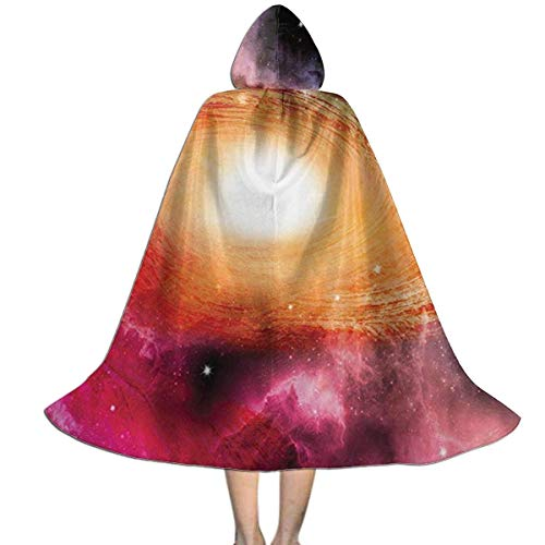 Capa para nios Capa con Capucha Zodaco Astronoma Espiral Galaxia Estrellas Stardust Capa Unisex con Capucha Abrigo Tnica de Bruja Capa Larga Fiesta de Cosplay de Halloween Capa M