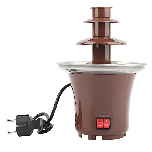 ShangSky Cioccolato per fontane di cioccolato,3 strati di fontane di cioccolato per feste,acciaio inossidabile Facile da pulire Fontane di cioccolato resistenti al calore Grandi