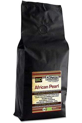 KÖNIGs Genussoffensive Fairtrade Kaffee, 100% African Perlbohne Blue Mountain, Kaffee gemahlen, schonende Langzeitröstung, 500 g - Bremer Gewürzhandel