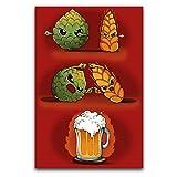 ZSBoBo Poster, Motiv: Bier-Fusion, dekoratives Gemälde,