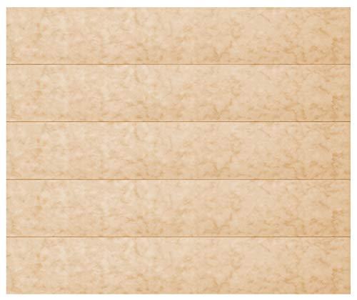 1 m² plafondpanelen | lichtbruine marmeren optiek | geëxtrudeerd polystyreen | interieur | decoratieve panelen | XPS | hexim | 100 x 16,7 cm | P-51