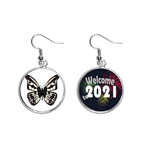 Colgante de mariposa en oreja pálida joyería 2021 bendición