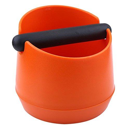 Espressoklopper, Plastic koffiemachine Klopkist Residu-emmer Malen Afvalbak met rubberen staaf Merk, Koffieklopper voor coffeeshop, Melkthee Shop Home(oranje)