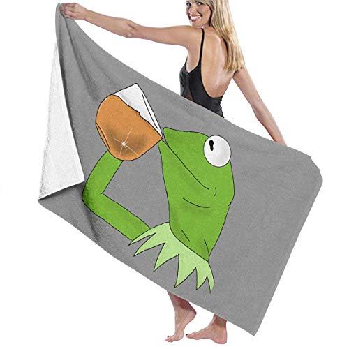 LOPEZ KENT Bad Handdoeken Kermit De Kikker Sipping Thee Baby Grote Zachte Bed Strand Handdoek Set Badkamer Accessoires