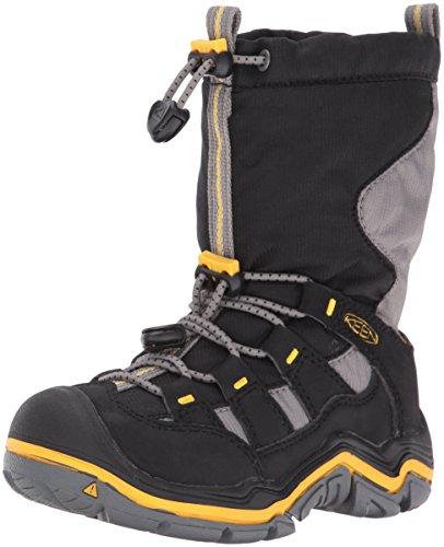 KEEN Unisex-Kinderschuhe Winterport II WP C 1015253 Jungen & Mädchen Trekkingschuhe, Wanderstiefel, Stiefel, Boots schwarz (Black/Gargoyle), EU 30