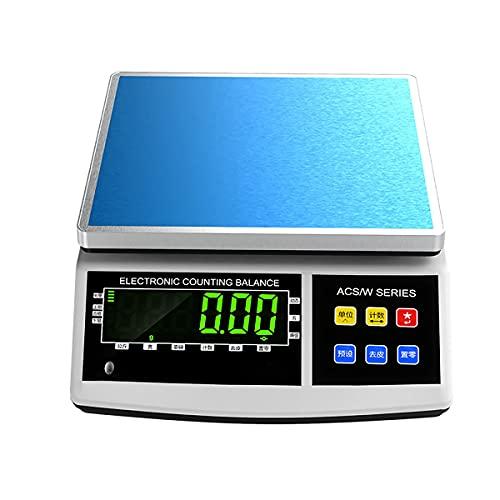 XIAOL Balanzas Electrónicas Industriales,Báscula Electrónica De Sobremesa con Pesaje De Precisión,Adecuado para Básculas Comerciales para Verduras Y Frutas. (Size : 3kg/0.1g)