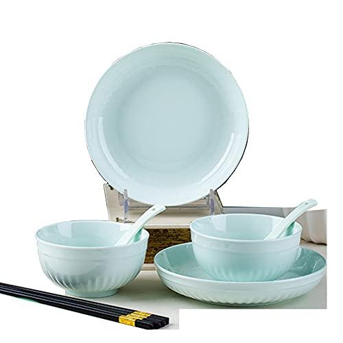 Vajilla Completa De Cocina De 8 Piezas, Juego De Vajilla De Plato Llano, Apto Para Lavavajillas, Estilo Japonés