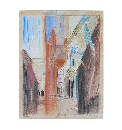 Lyonel Feininger Poster Kunstdruck Stadt-Tor I