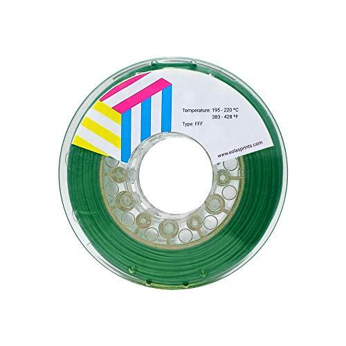 Eolas Prints | Filament 1.75 PLA | 3D Drucker | Geeignet für Lebensmittel und Spielzeugherstellung | 1,75 mm | 1 kg | Dunkelgrün