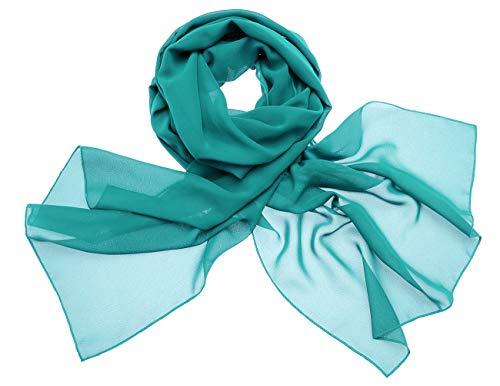 DRESSTELLS Scialli Sciarpa Chiffon Donna Avvolgere Accessori Sera Partito in vari colori Turquoise 190cm×70cm
