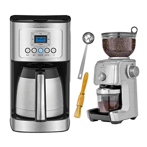 Cuisinart DCC-3400 12-Cup Programmable Thermal Coffeemaker and Conical Burr Coffee Grinder Bundle (2 Items)