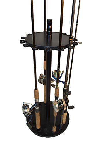Old Cedar Outfitters Round Floor Rack for Fishing Rod Storage