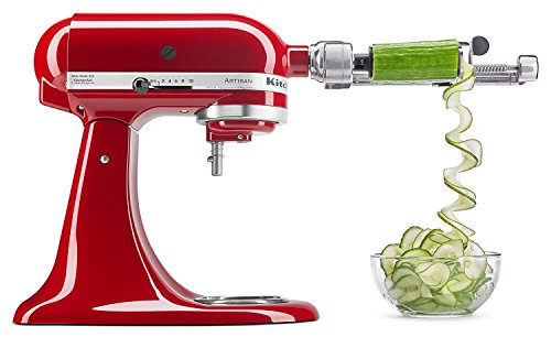 KitchenAid KSM2APC spiralizer with peel, Core & Slice