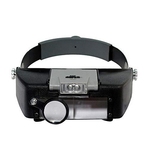 STHfficial Head Wear loep instelbare grootte hoofdband lenzen reparatie werklicht zeer transparante lenzen LED-licht koplamp