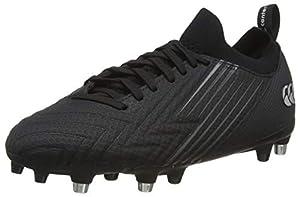 canterbury Men's Speed 3.0 Pro Soft Ground Rugby Boot, Black/Dark Grey/Light Silver, 10 UK by Canterbury