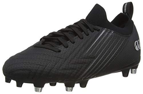 Canterbury Men's Speed 3.0 Pro Soft Ground Rugby Shoe, Black Dark Grey Light Silver, 10 UK