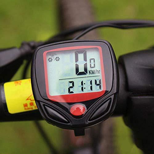 KAR Fahrrad Tachometer-Fahrrad-Computer Mit LCD-Digitalanzeige Wasserdicht Odometer Radfahren Gefahrene Aufnahmegerät