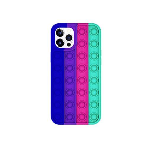 LUOSFUH Funda para teléfono Fidget Pop Bubble Sensory Box Silicona Delgada a Prueba de Golpes Funda de Descompresión Aliviador de Estrés Anti-Ansiedad Teléfono Case Compatible para iPhone 11 Pro