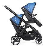 Chicco Fully Twin - Silla de paseo gemelar, capazo y silla de paseo transformable, color azul (Power Blue)