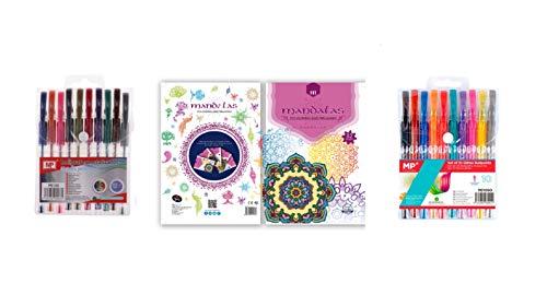 20 rotuladores bolígrafos de purpurina y metalizados incluye mandalas para colorear adultos niños punta fina permanentes lettering detalle comunión