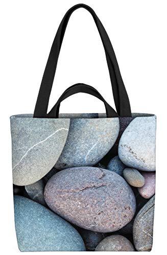 VOID Kieselsteine Tasche 33x33x14cm,15l Einkaufs-Beutel Shopper Einkaufs-Tasche Bag