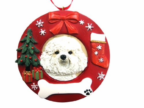 E&S Pets Bichon Frise Personalized Christmas Ornament