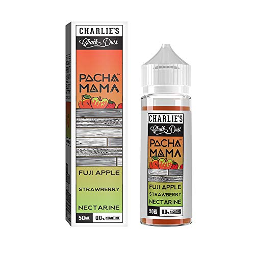 50ml Pacha Mamá Charlies Creta Polvo Corto Relleno Shortfill E-Liquid E-Líquido - sin Nicotina ( Fuji Manzana Fresa Nectarina)